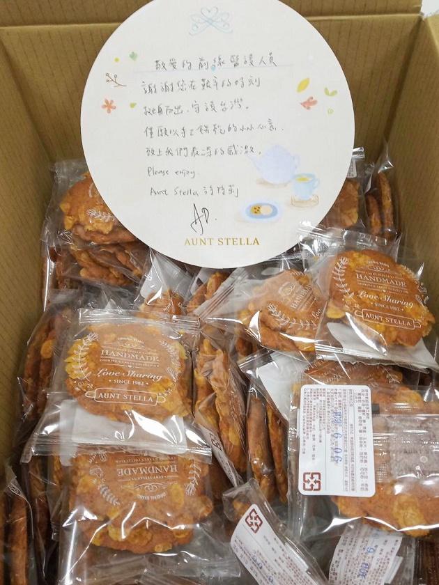 7、詩特莉送出13,000片手工餅乾給前線醫護人員(振興醫院照片提供)