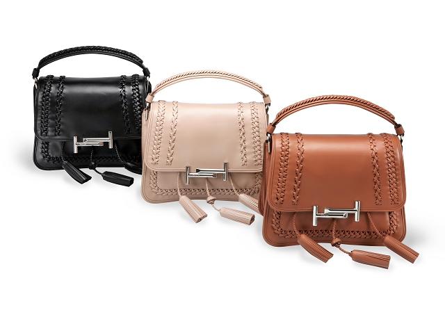 (010) 流蘇綴飾皮革編織TOD'S Double T Bag-NT$102,800-TOD'S