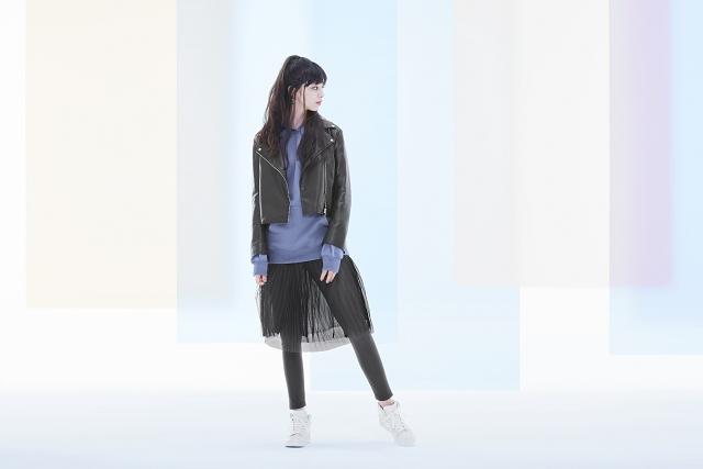 (002) GU 2017春季女裝以層次混搭概念,突破既有風格框架,以甜美、運動、休閒大玩穿搭趣