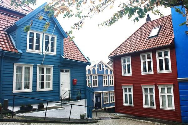 卑爾根木造房屋
