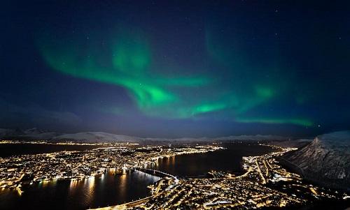 挪威特羅姆瑟極光