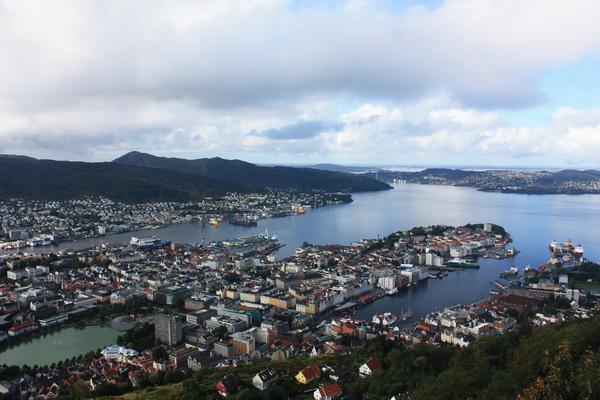 卑爾根市區全景