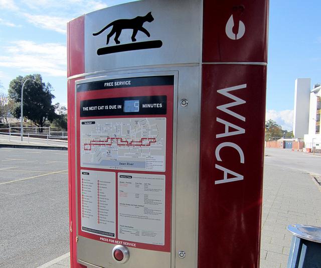西澳貓公車站牌
