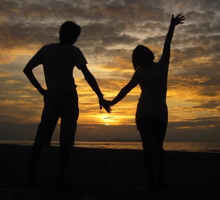 環島-夕陽下的我們
