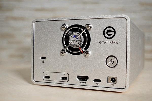 G-RAID_with Thunderbolt 3背面