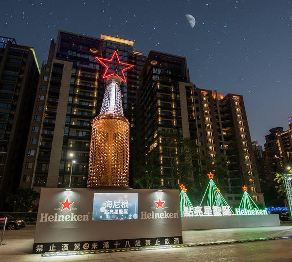 【圖四】台中老虎城的海尼根3D煙火聖誕樹展示「星學業」.jpg