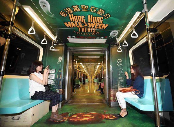 香港萬聖慶典中,吸引年輕人赴港遊玩。.JPG