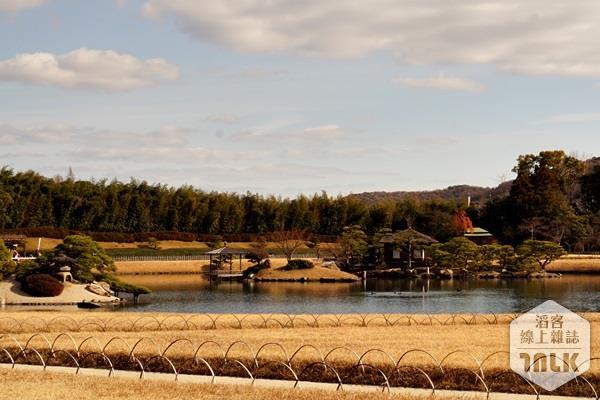 秋天焦黃的草坪,環繞著澤之池,頗有秋風蕭瑟、金黃炫麗之美(圖片來源:鐵蓮花提供)