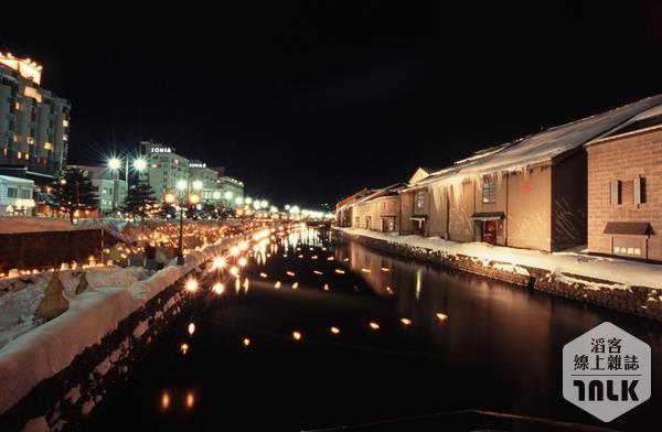 小樽運河雪景