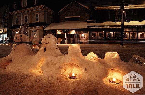小樽市區可愛雪人