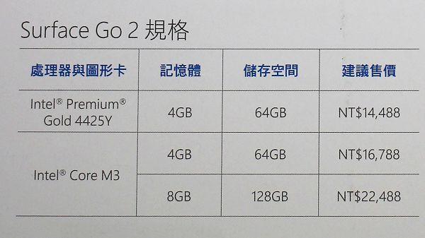 Surface Go 2 版本及售價.jpg