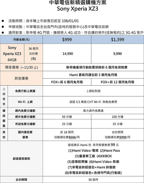 Xperia-XZ3電信資費_中華電信.jpg