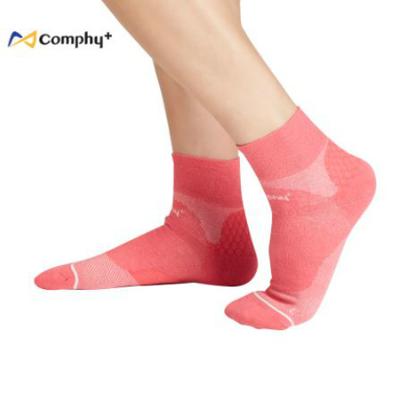 運動透氣短襪-胭脂紅(M/L)