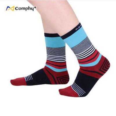 混搭條紋三分襪-豔麗紅(F:23-27cm)