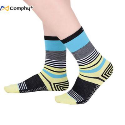 混搭條紋三分襪-鵝黃(F:23-27cm)