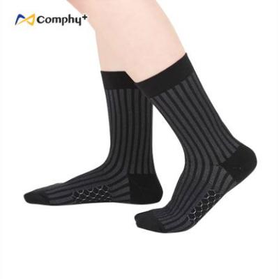 透氣直紋三分襪-神秘黑(F:23-27cm)