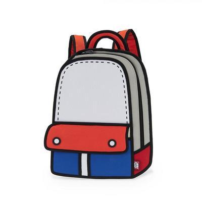 JumpFromPaper 漫畫冒險紅色後背包電腦包