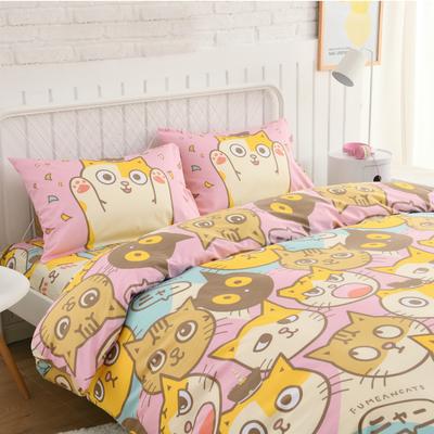 【新馬尺寸】可愛貓咪床包組|Single Size床包組