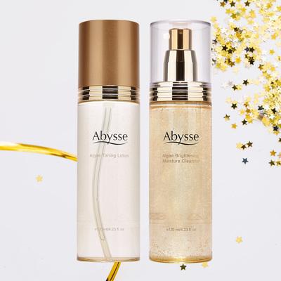 Abysse 黃金藻黃金藻保濕亮采潔顏膠120ml + 黃金藻青春化妝水120ml