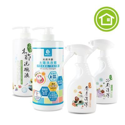團購|【木酢達人組合】洗衣精1L+洗碗液1L+浴廁350ml+廚房350ml