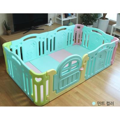 團購優惠|[韓國 Ifam] 綠色圍欄+棉花糖地墊套組