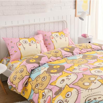 台灣尺寸 【買一送一】繽紛卡通床包 單人床包組