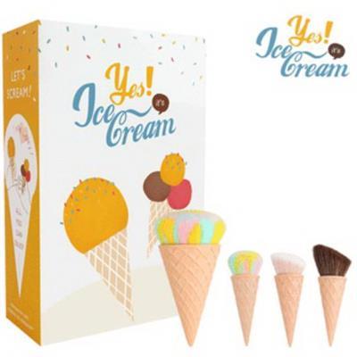 冰淇淋刷具組 全套組 (4刷) 贈刷具架