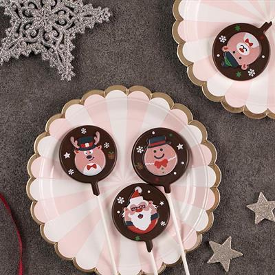 【創意巧克力】造型巧克力|繽紛聖誕限定款巧克力棒棒糖❋買五送一❋隨機出貨