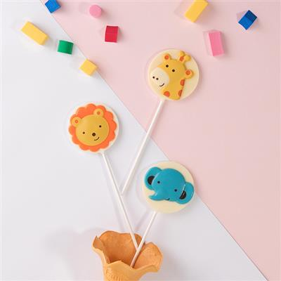 【創意巧克力】造型巧克力|派對動物巧克力棒棒糖❋買五送一❋隨機出貨