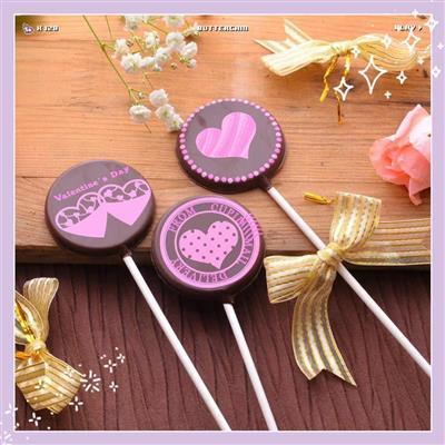 【創意巧克力】造型巧克力|情人節愛心巧克力棒棒糖❋買五送一❋隨機出貨